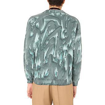 Msgm 2940mm17720759536 Men's Green Cotton Cardigan