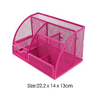 6 Grilles/9 Grilles Multifunction Desk Organizer, Mesh School Office Stationery