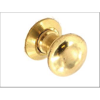Securit Victorian Cupboard Knob Brass 40mm x 2 S2614