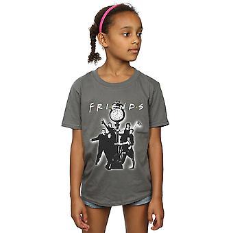 フレンズガールズクロックモノ写真Tシャツ