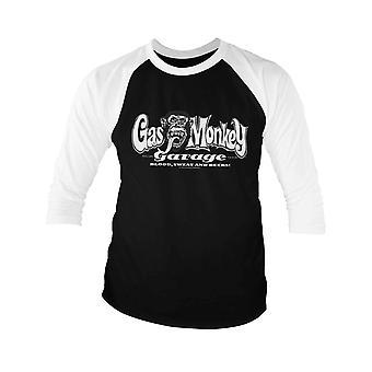 Gas Monkey Garage Baseball Shirt Bar Knuckles nouveau manchon officiel Homme 3/4