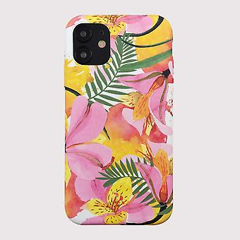 Eco Friendly Printed Floral Yellow iPhone 12 Case