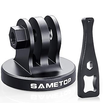 Sametop aluminum tripod mount adapter compatible with gopro hero 8, 7, 6, 5, 4, session, 3+, 3, 2, 1