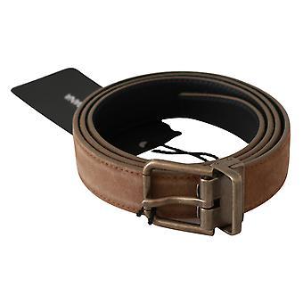 براون الذهب مشبك الخصر الرجال 100٪ حزام جلدي