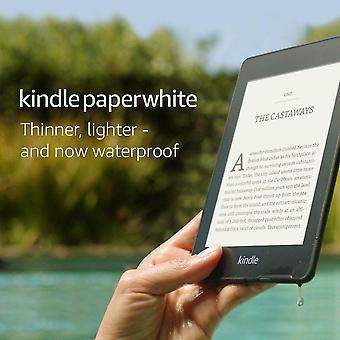 "Kindle paperwhite | waterproof, 6"" high-resolution display, 8gb—without special offers—black bla"