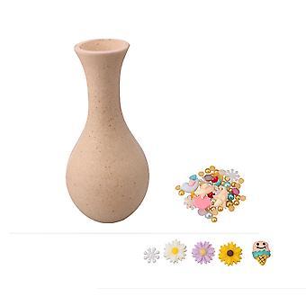 7.9x17CM Crafts Arts Unfinished Wooden Vase Party Kid DIY Gift