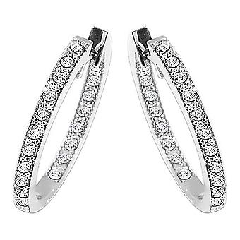 Boucles d'oreilles En diamant d'or dames 3/4 Carat
