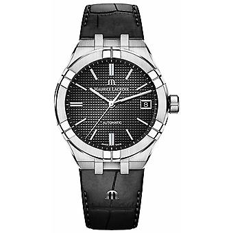Maurice Lacroix Aikon Automatic Black Dial Black Leather AI6007-SS001-330-1 Watch