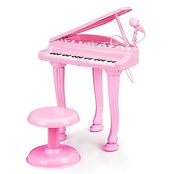 Spielzeug Klavier rosa - mit mp3 Mikrofon - 40x34x44,5 cm