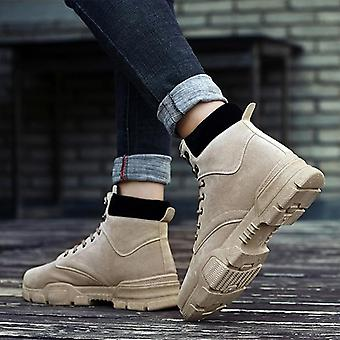 Pu Leather, Winter Autumn Ankle Boots Wild Footwear Wind Shoes