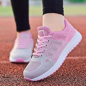 Women Flats Fashion Casual Lace-up Mesh Breathable Sneakers