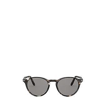 Persol PO3092SM striped brown & smoke unisex sunglasses
