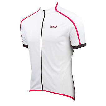 EIGO Classic Mens Short Sleeve Cycling Jersey White / Red