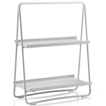 Zone Shelf A-Table Soft Grey / light grey shelf in steel H 58 cm