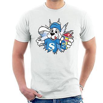 Slush Puppie brast genom män's T-shirt