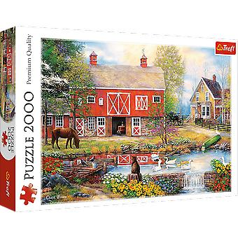 Trefl rural life 2000 pieces puzzle premium quality