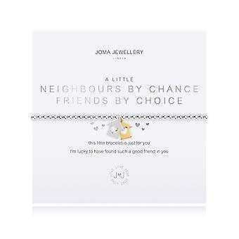 """ג'ומה תכשיטים שכנים קטנים במקרה חברים מבחירה כסף זהב 17.5 ס""""מ מתיחה צמיד 4359"""