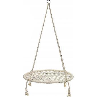 Nestschaukel weiß - 80 cm Durchmesser - bis 150 kg - 100 cm Seile