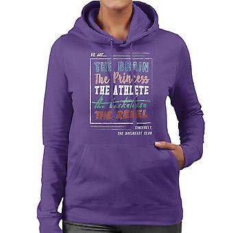 The Breakfast Club We Are The Brain Prinsessan The Athlete Women&apos,s Hooded Sweatshirt