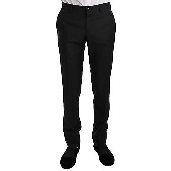 דולצ'ה וגבאנה שחור צמר משי דק בכושר שמלה מכנסיים רשמיים