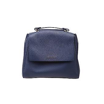 Orciani B01999softnavy Women's Blue Leather Handbag