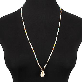 Colorful Rice Bead Necklace Personality Shell Necklace Female