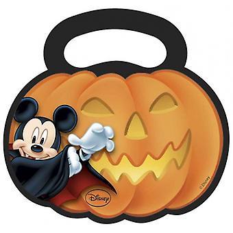 Sacs à distribuer Mickey Halloween Multicolore 17 X 18 Cm 6 Pièces
