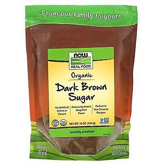 Now Foods, Real Food, Organic Dark Brown Sugar, 16 oz (454 g)