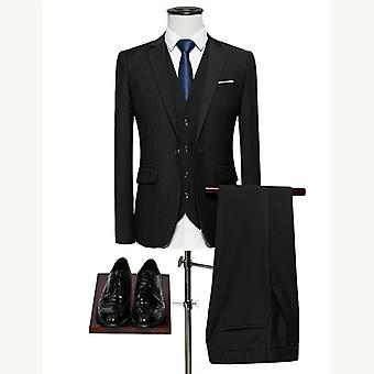 Men's Slim-fit Wedding Business Casual Classic Formal Suit