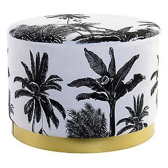 Footrest Dekodonia Jungla Polyester Metal Colonial Tropical (51 x 51 x 37 cm)