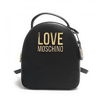 תיק נשים אהבה Moschino תרמיל שחור מזויף עור Bs21mo12 Jc4101