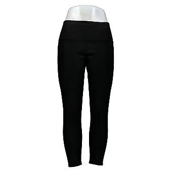 Vrouwen met Control Women's Petite Rev No Side Seam Leggings Zwart A384087