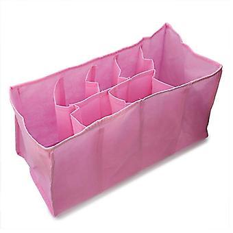 Reise bleie mor bag for lagring baby bleie bleier klær (rosa)