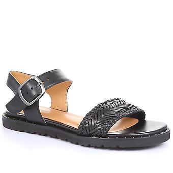 Regarde Le Ciel Womens Joanna-04 Leather Flat Sandals