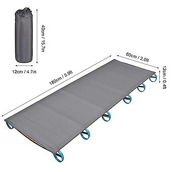 Camping Bed, Single Person, Outdoor Folding Cot, Portable, Foldable Sleeping