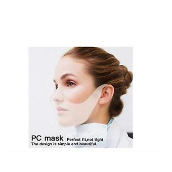 10 Pcs New Upgrade Transparent Face Mask Protection Durable Combine Upgraded Breathable Plastic Clear Face Covering