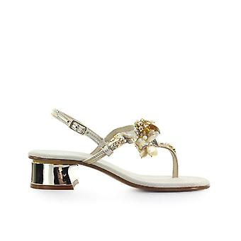 Giallo Positano Gold Mother Of Pearl Sandal