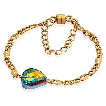 Alex og Ani Crystal Mirage magnetisk armbånd-Rafaelian Gold