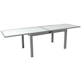 Aluminiowy stół ogrodowy z możliwością wysuwania & Porto 10&; - Phoenix - Silver