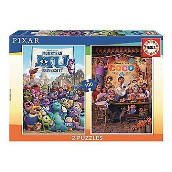 Puzzle Educa Coco & Monsters Universität (2 x 100)
