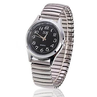 Flexible Stretch Band Quartz Watches, Dress Simple Casual Clock