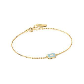 Bracelet or Ania Haie Powder Blue Enamel Emblem B028-02G-B