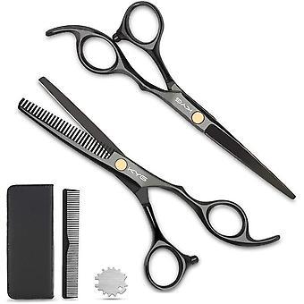 FengChun Haarschere Set Friseurscheren 2 Scharfe Effilierscheren Przise Haarschnitte Rostfrei