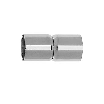 Magneettiset nastat, Putken muoto 19x9mm, Sopii 8mm pyöreä johto, 1 sarja, ruostumaton teräs