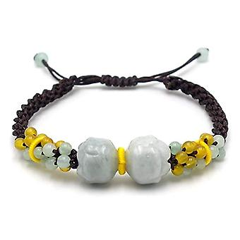 Benava, Tibetan bracelet with Amazonian Lotus pearl Yoga turquoise and without, color: brown, cod. 100081