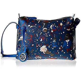 piero guidi 213984088, Women's Crossbody Bag, Blue (Prussian Blue), 29x18x8 cm (W x H x L)