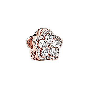 باندورا - قلادة على شكل ندفة الثلج مع 14k ارتفع الذهب مطلي سبيكة معدنية تمهيد، 10.6 × 12.4 × 12.4 ملم المرجع. 5700302900187