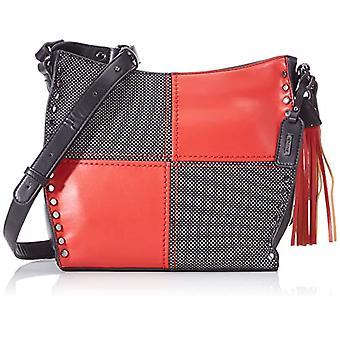 Remonte Q0602, Women's Bag, Multicolored (Black/Silver/Red), 9x26x30 cm (B x H x T)