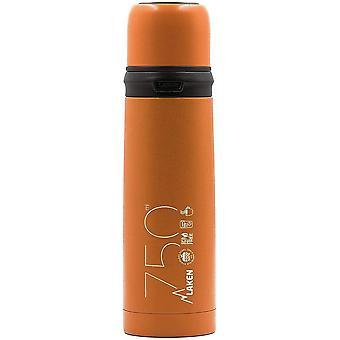 FengChun Orange Thermosflasche aus Edelstahl mit Verschluss, 0,75 l, für Erwachsene, Unisex, 750 ml