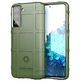 Tpu carbon fibre case for samsung s30 green mfkj-1072